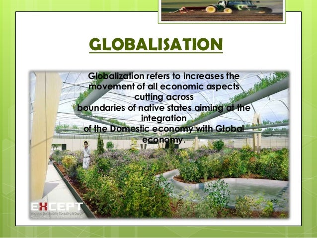 impact of globalisation on india agriculture Technological and cultural impact of globalization in india  records indicated  that agriculture exports account for about 13 to 18% of total annual export of the.