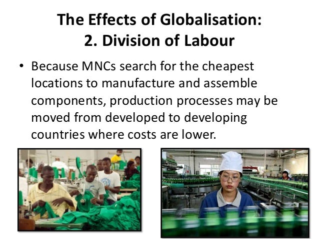 effect of globalization on market processes An overview and assessment of the increased globalization and interconnectedness among countries,  they immediately form what a business would call a market.