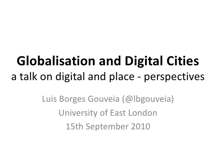 Globalisation and digital cities
