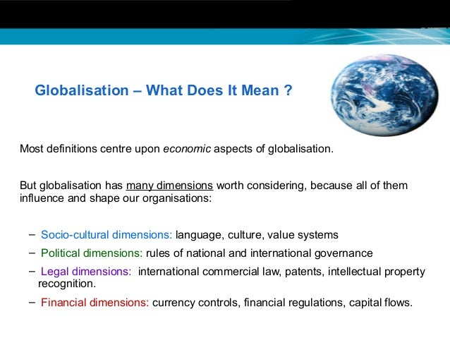 It and its effects on globalization