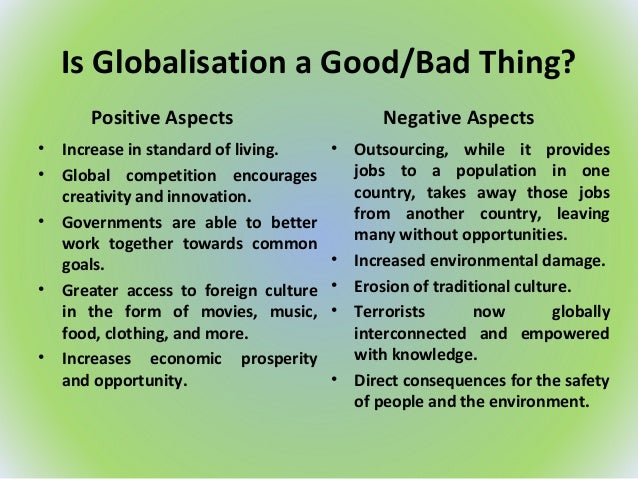 bad things about globalization