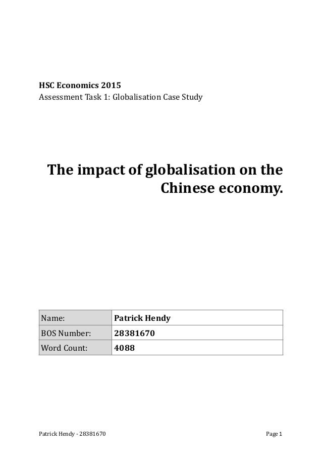 globalisation essay hsc economics 2015 assessment task 1 globalisation case