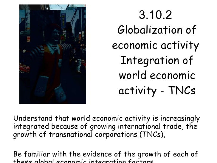 globalization in economic activity