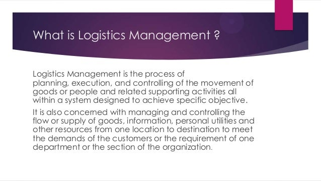 What is a logistical issue?