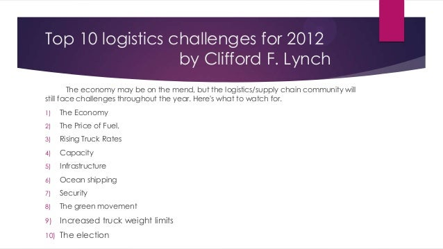 Top 10 logistics challenges for 2012 (and beyond)
