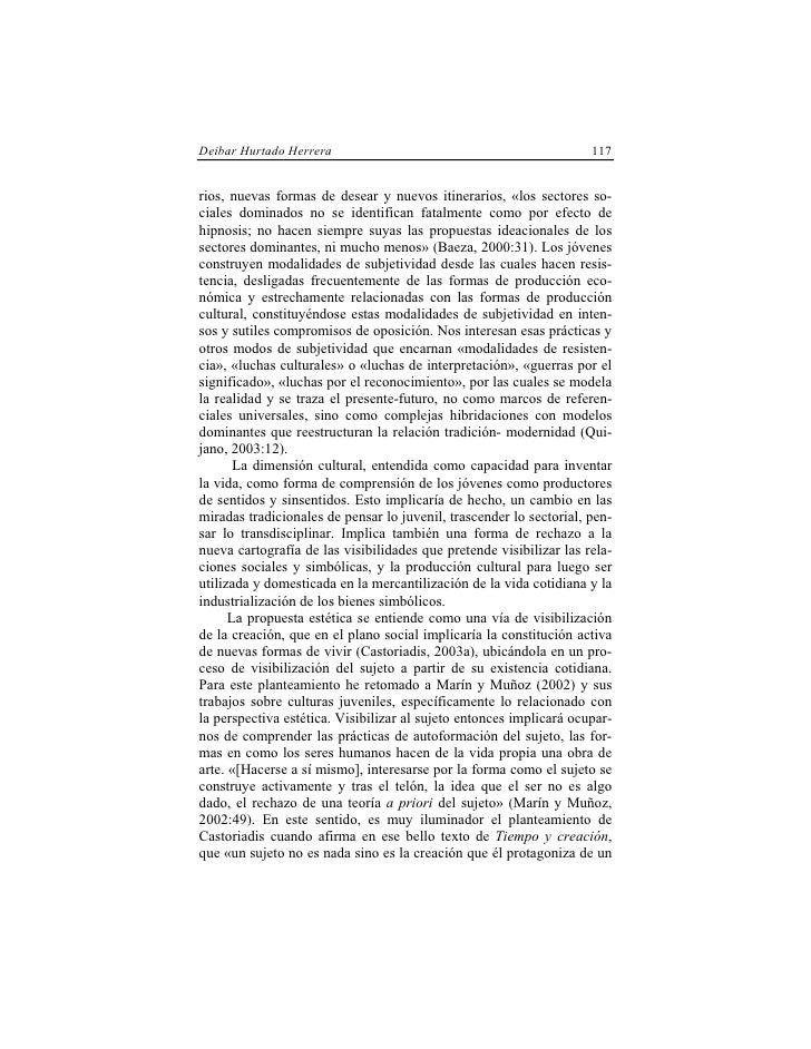 Deibar Hurtado Herrera                                               117   rios, nuevas formas de desear y nuevos itinerar...