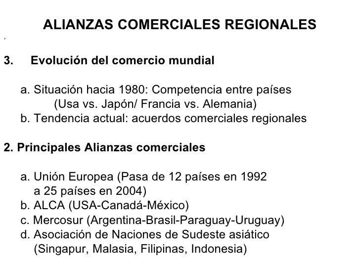 Alianzas regionales de comercio