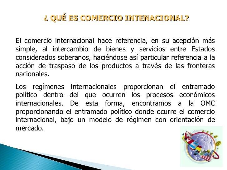 Comercio internacional globalizaci n e integraci n for Comercio exterior que es