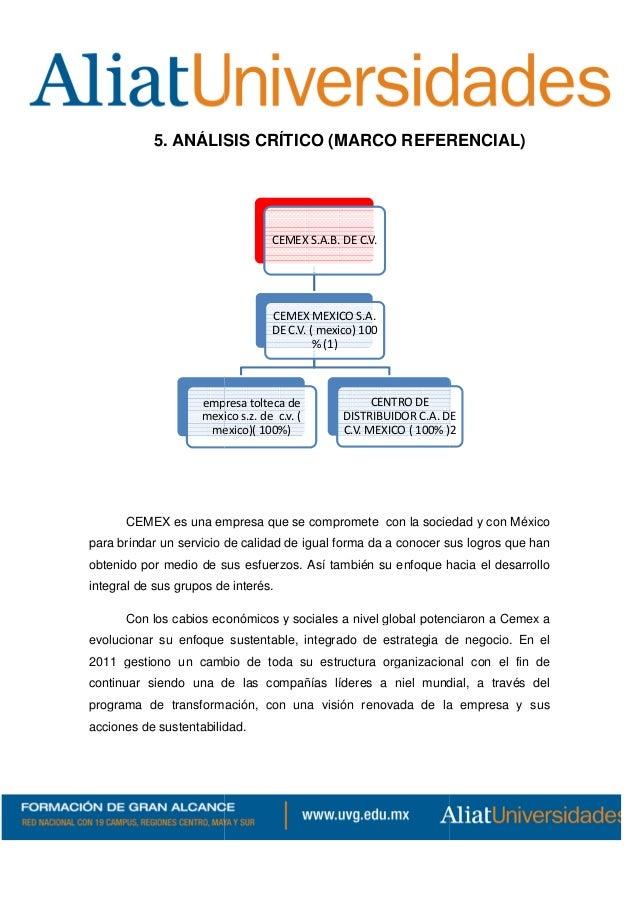 caso globalización de cemex La autora de oro gris, zambrado la gesta de cemex y la globalización en méxico,  escrito a partir del caso especifico de la cementera mexicana alcr.