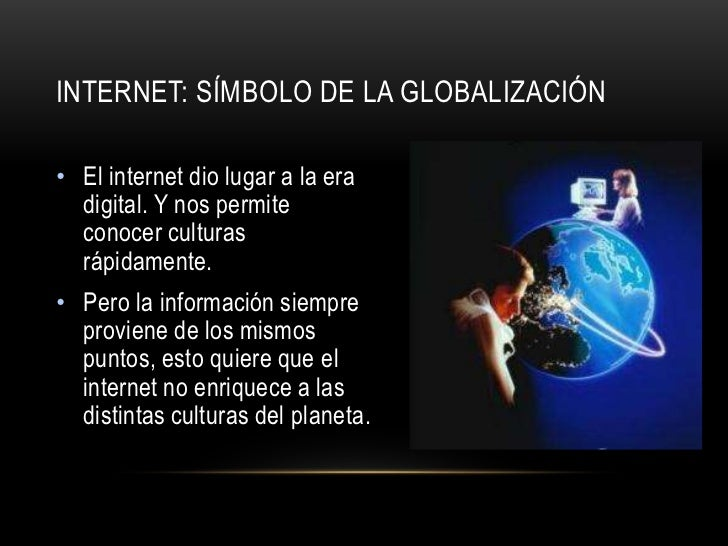 Globalizacion e internet