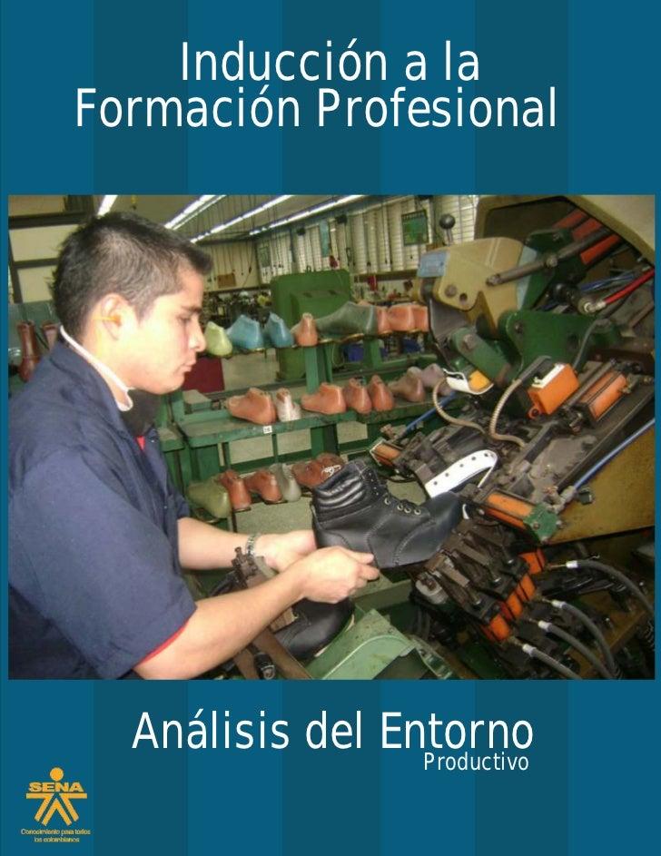 Inducción a laFormación Profesional  Análisis del Entorno                 Productivo