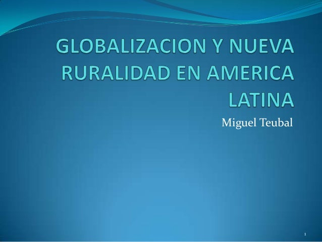 Miguel Teubal                1