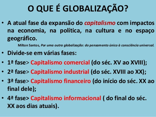 Resultado de imagem para o que é globalização