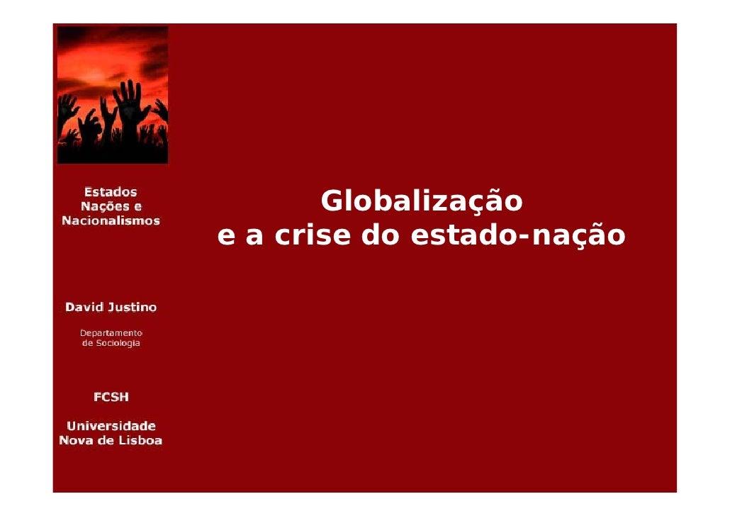 Globalização e a crise do estado-nação