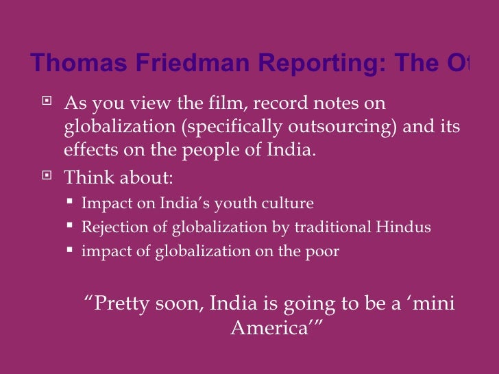 other side of outsourcing by thomas When they questioned how the firms' business models were sustainable in the face of these numbers—attrition is notoriously high in other sectors of the offshore economy—the best answer seemed to be employees' enthusiasm, at least until the indian legal world can offer better opportunities as thomas and mathew.