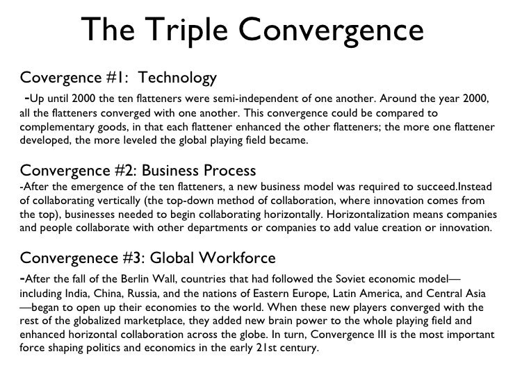 The convergence of the internet with other technologies