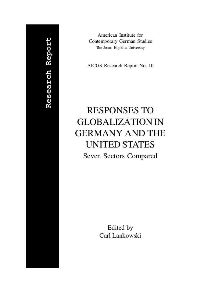 American Institute forResearch Report                    Contemporary German Studies                       The Johns Hopki...