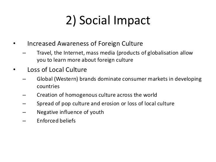 What is the impact of mass media on culture?