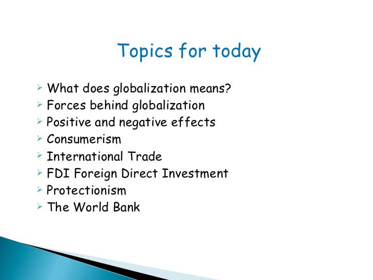 positive and negative globalization Describes the positive and negative effects of globalization, and proposes ways forward to achieve sustainable development.