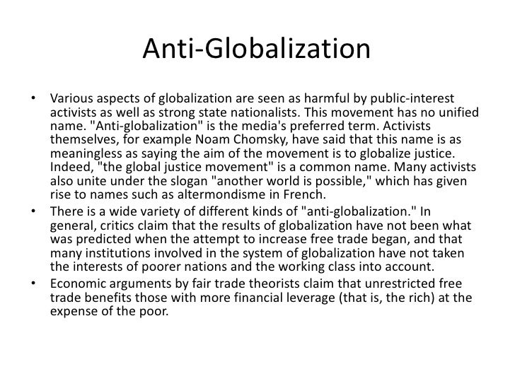 """anti globalization movement essay Insights weekly essay challenges 2016 – week 47:"""" deglobalization is good for the world"""" by insights november 20, 2016 insights weekly essay challenges 2016 – week 47 archives 20 november 2016  insights mindmaps: """"#metoo movement in india."""