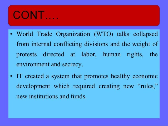 Rule based trading system wto