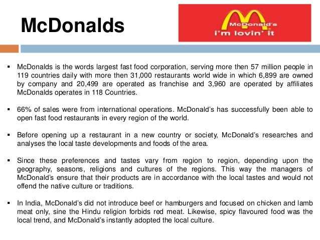 mc donalds in china globalisation case study Home » case study analysis solutions » mcdonald's china: the expired meat scandal mcdonald's china: the expired meat scandal case solution & answer case study analysis solutions.