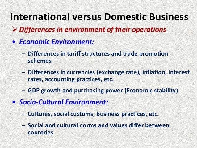 what are the key differences between domestic and foreign business environments Top ten dos and don'ts for us companies doing business  foreign business people and lawyers are afraid of the  greg mortinson was right on his key .