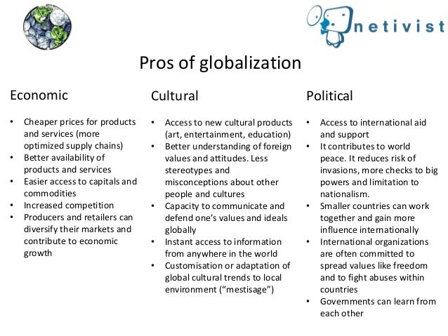 pros and cons of globalization pros of globalization
