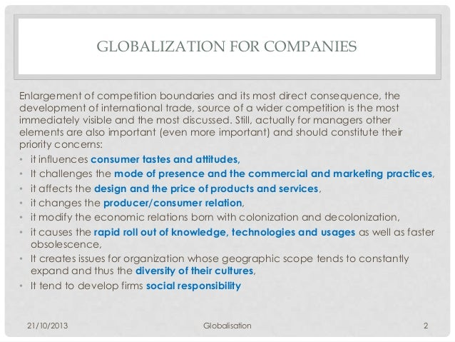explain various approaches to globalization of the firm