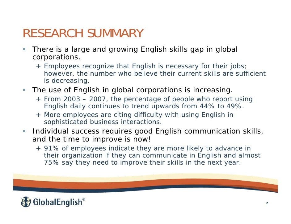 importance of english in globalization