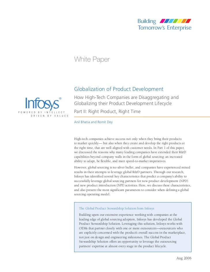 Globalization of Product DevelopmentHow High-Tech Companies are Disaggregating andGlobalizing their Product Development Li...