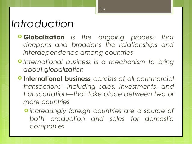relationship between globalization and international business