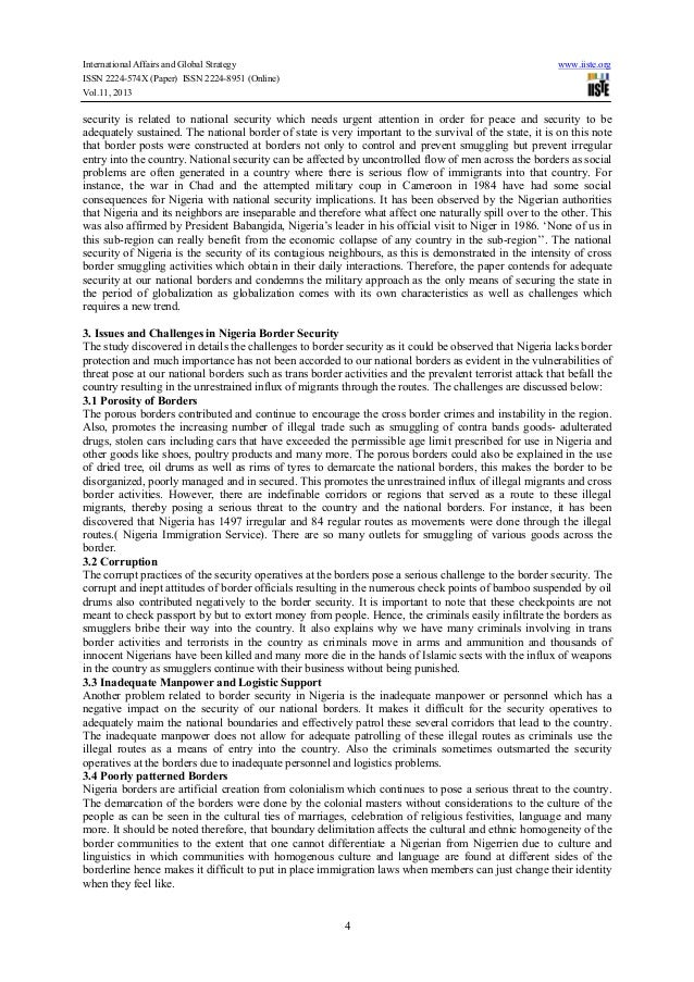 technology and nigerias national security challenges Nigeria's security challenges and the crisis of development - free download as pdf file the paper argue that so long as we continue to treat the issue of national security separately from the issue of national development in which challenges of military technology post colonial african.