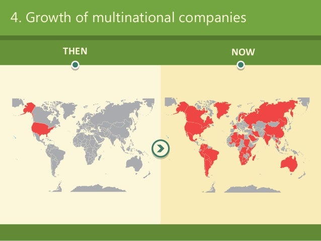 4  growth of multinational companies