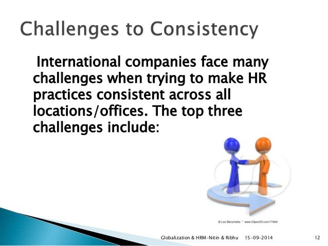 globalisation and hrm As organizations become increasingly global, hr managers will face new challenges as they try to build productive, cohesive workforces that.