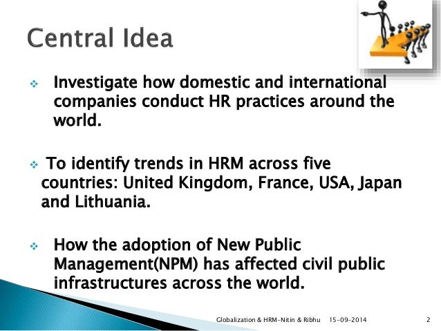 impact of globalisation in hrm