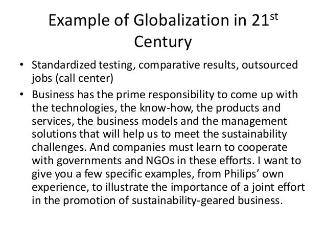 Globalization examples