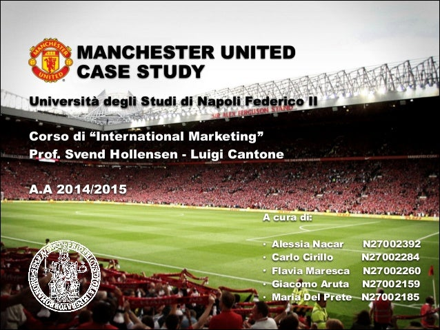 manu soccer case study Manchester united was the highest-earning football club in the world for 2015–16, with an annual revenue of €689 million, and the world's third most valuable football club in 2015, valued at £198 billion.