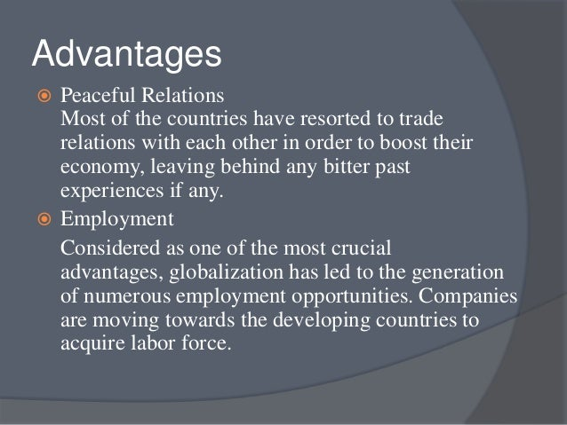 globalization advantages and disadvantages pdf