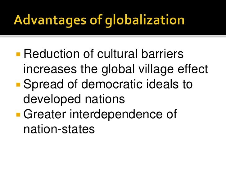 drawbacks of globalization Have you heard people talking about globalization and didn't quite know what they meant this lesson gives a brief definition of globalization and.
