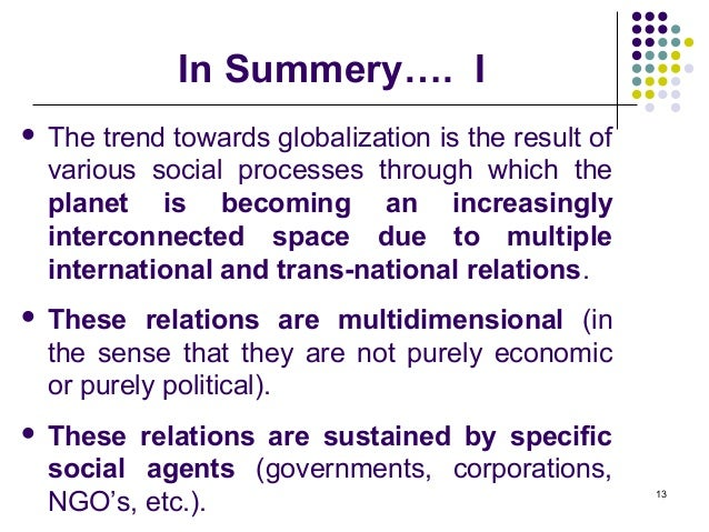 globalization is the trend