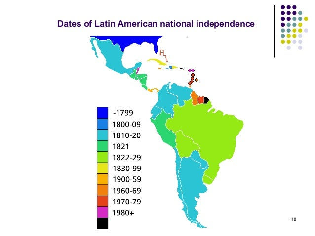Latin American Countries Independence Dates 84