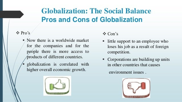 globalization pros and cons essay