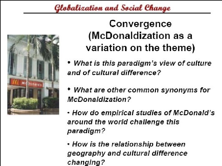 an analysis of the mcdonaldization of society by george ritzer Visit amazoncom's george ritzer page and shop for all professor ritzer is perhaps best known for the mcdonaldization of society (4 by george woodward.