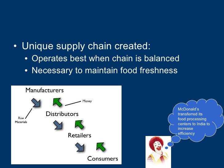 <ul><li>Unique supply chain created: </li></ul><ul><ul><li>Operates best when chain is balanced </li></ul></ul><ul><ul><li...