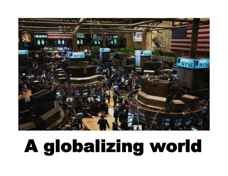 A globalizing world