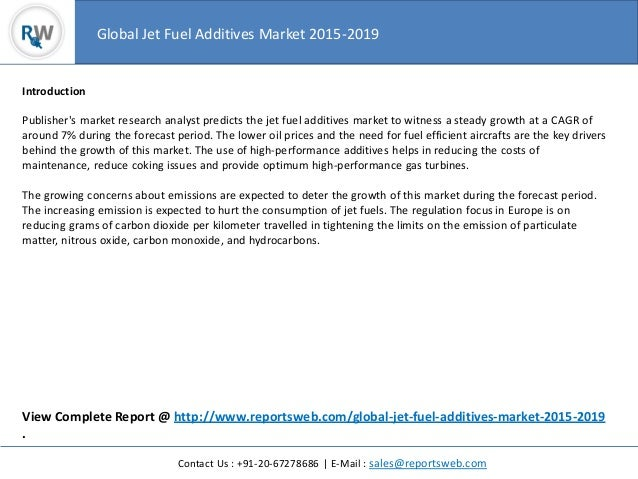 Worldwide Jet Fuel Additives Market 2015 Trend