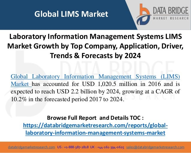 databridgemarketresearch.com US : +1-888-387-2818 UK : +44-161-394-0625 sales@databridgemarketresearch.com 1 Global LIMS M...