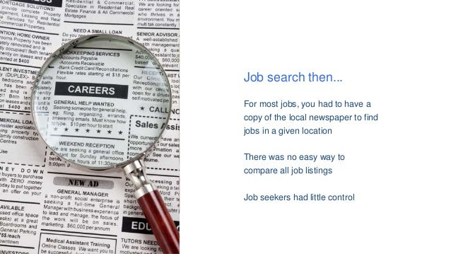 Job Search Then... For Most Jobs ...