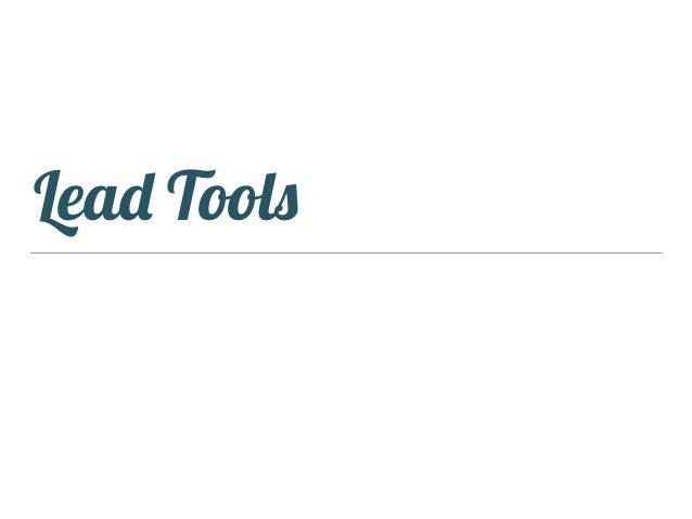 Lead Tools